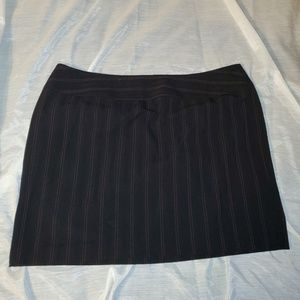 Black & red pinstripe skirt